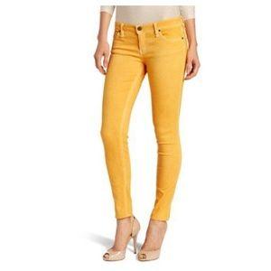 Sanctuary Mustard yellow skinny jeans.